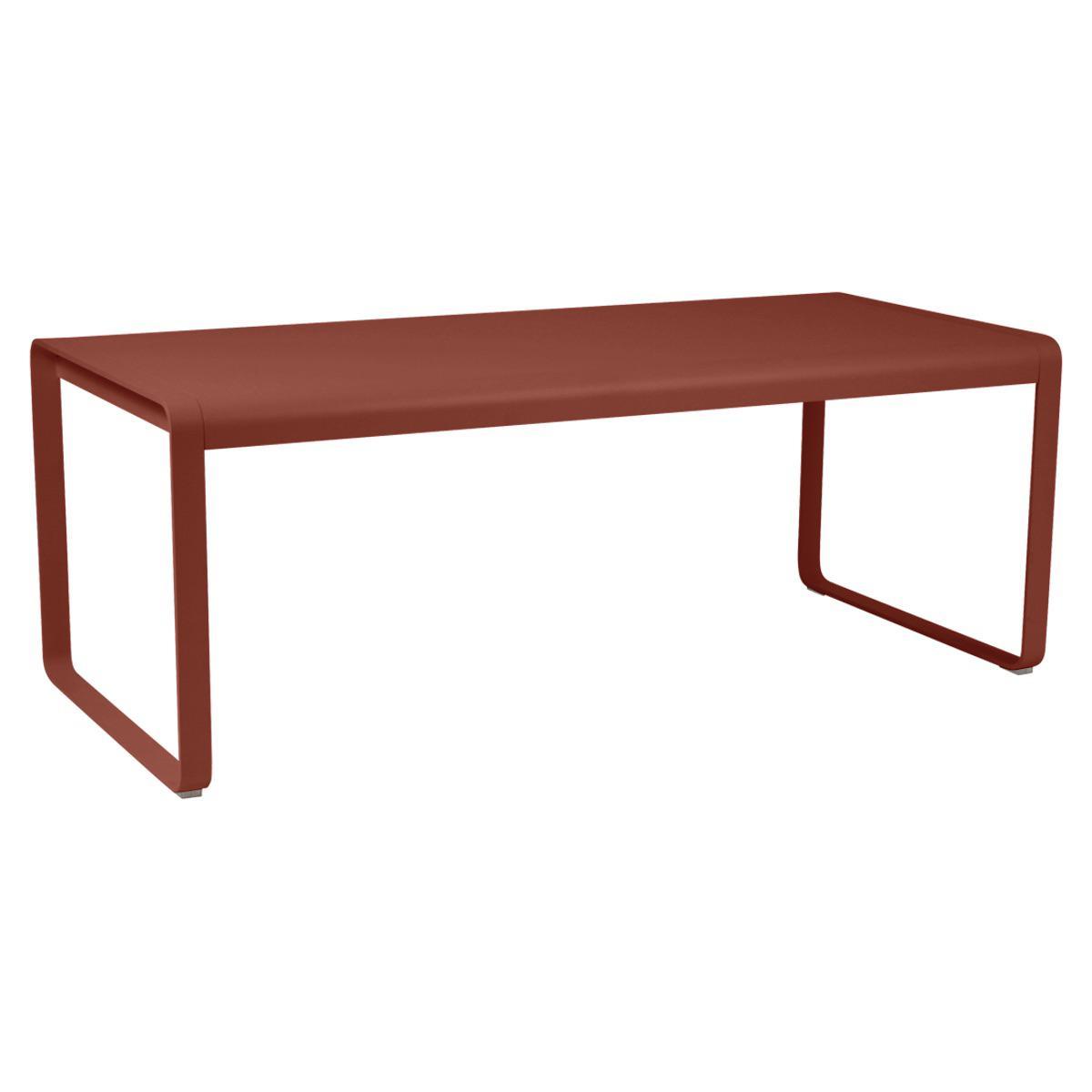 Table 90x196cm BELLEVIE PREMIUM Fermob rouge ocre