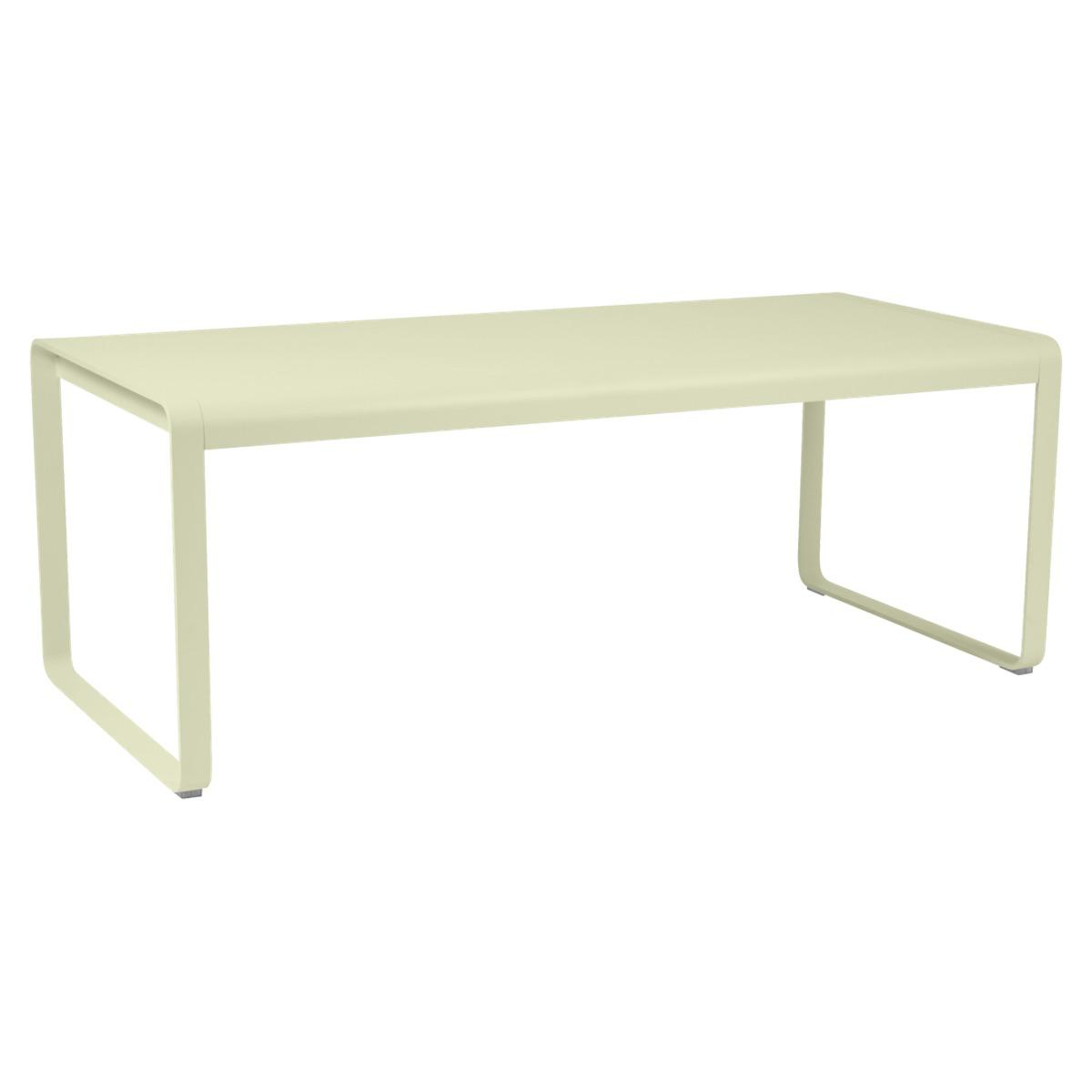 Table 90x196cm BELLEVIE PREMIUM Fermob vert tilleul
