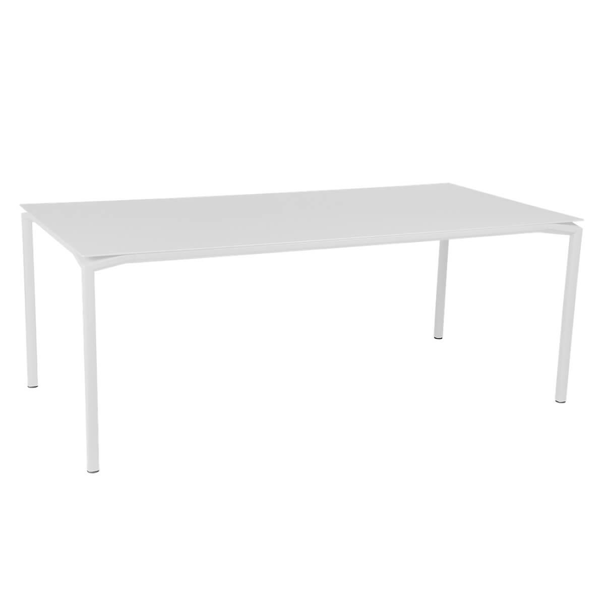 Table 95x195cm CALVI Fermob blanc coton