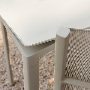 Table 95x195cm CALVI Fermob bleu lagune