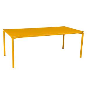 Table 95x195cm CALVI Fermob jaune miel