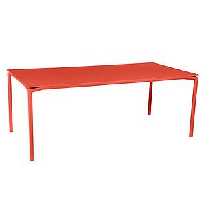 Table 95x195cm CALVI Fermob  orange capucine