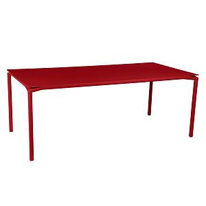 Table 95x195cm CALVI Fermob piment