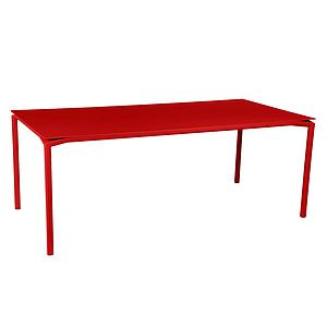 Table 95x195cm CALVI Fermob rouge coquelicot