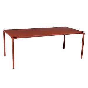 Table 95x195cm CALVI Fermob rouge ocre