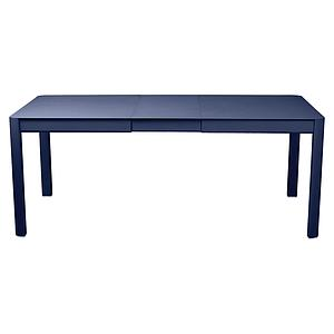 Table à rallonge 149/191x100cm RIBAMBELLE Fermob bleu abysse