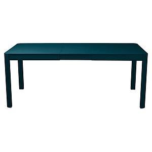 Table à rallonge 149/191x100cm RIBAMBELLE Fermob bleu acapulco