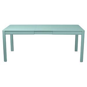 Table à rallonge 149/191x100cm RIBAMBELLE Fermob bleu lagune