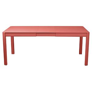 Table à rallonge 149/191x100cm RIBAMBELLE Fermob capucine
