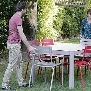 Table à rallonge 149/191x100cm RIBAMBELLE Fermob citron givré
