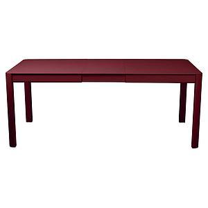 Table à rallonge 149/191x100cm RIBAMBELLE Fermob piment