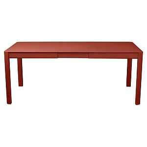 Table à rallonge 149/191x100cm RIBAMBELLE Fermob rouge ocre