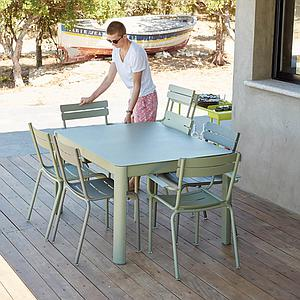 Table à rallonge 149/191x100cm RIBAMBELLE Fermob rouille