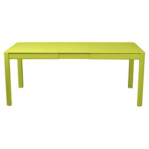 Table à rallonge 149/191x100cm RIBAMBELLE Fermob verveine