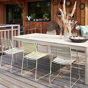 Table à rallonge 149/234x100cm RIBAMBELLE Fermob Miel