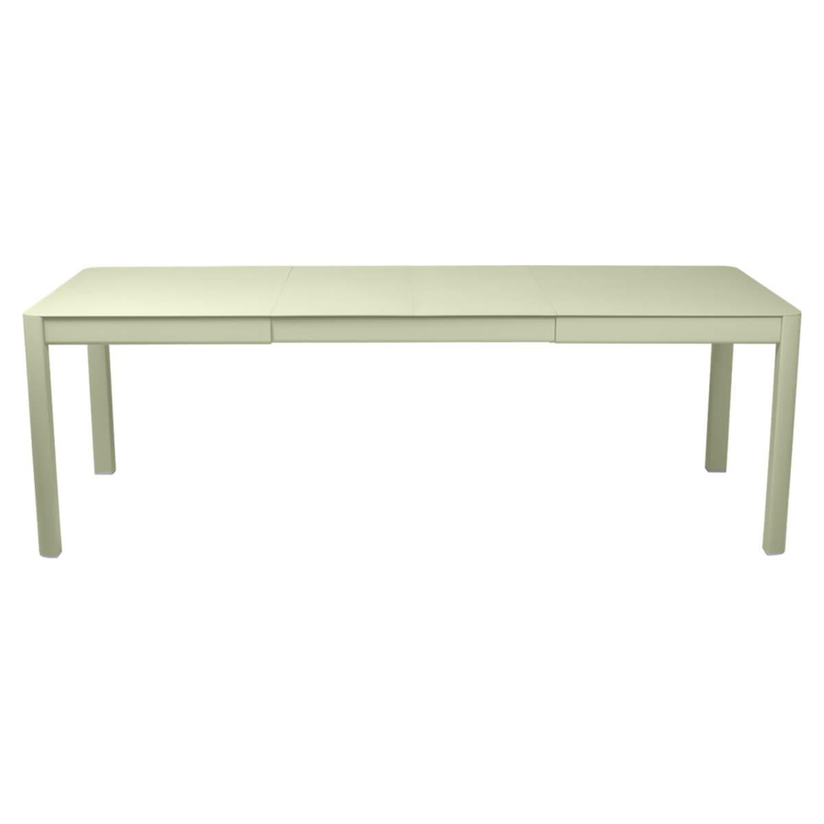 Table à rallonge 149/234x100cm RIBAMBELLE Fermob Vert Tilleul