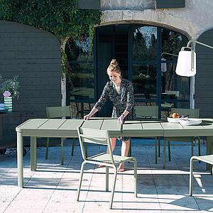 Table à rallonge 155/255x100cm OLERON Fermob ocre rouge