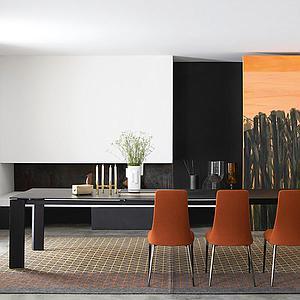 Table à rallonge 240x340cm BOULEVARD Calligaris oxyde noir