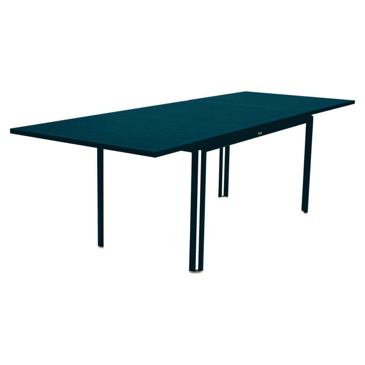 Table à rallonge 90x160/240cm COSTA Fermob bleu acapulco