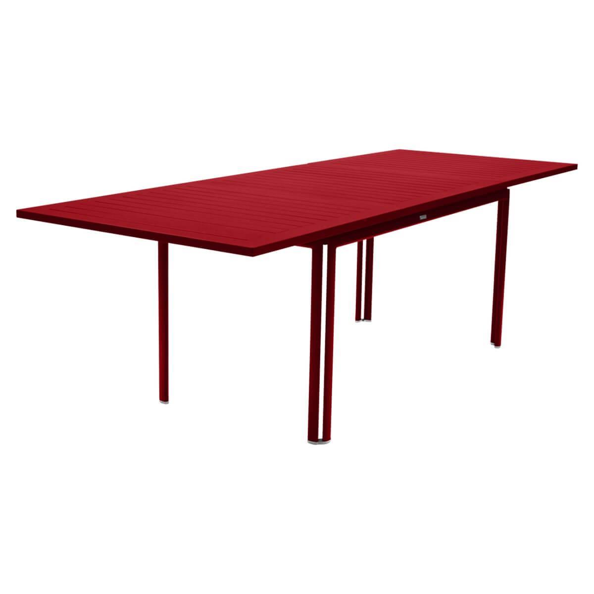 Table à rallonge 90x160/240cm COSTA Fermob coquelicot