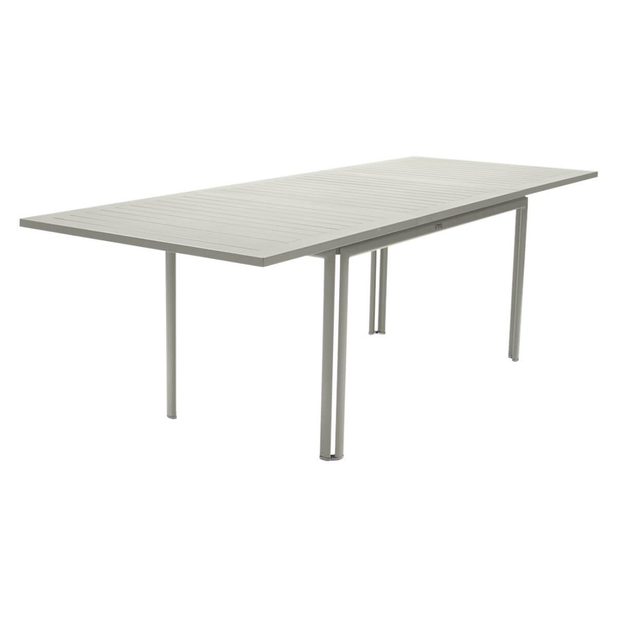 Table à rallonge 90x160/240cm COSTA Fermob gris argile