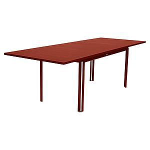 Table à rallonge 90x160/240cm COSTA Fermob rouge ocre