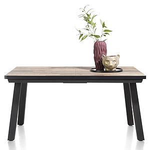 Table à rallonge 98x190/250cm AVALOX Henders & Hazel driftwood-pieds simple