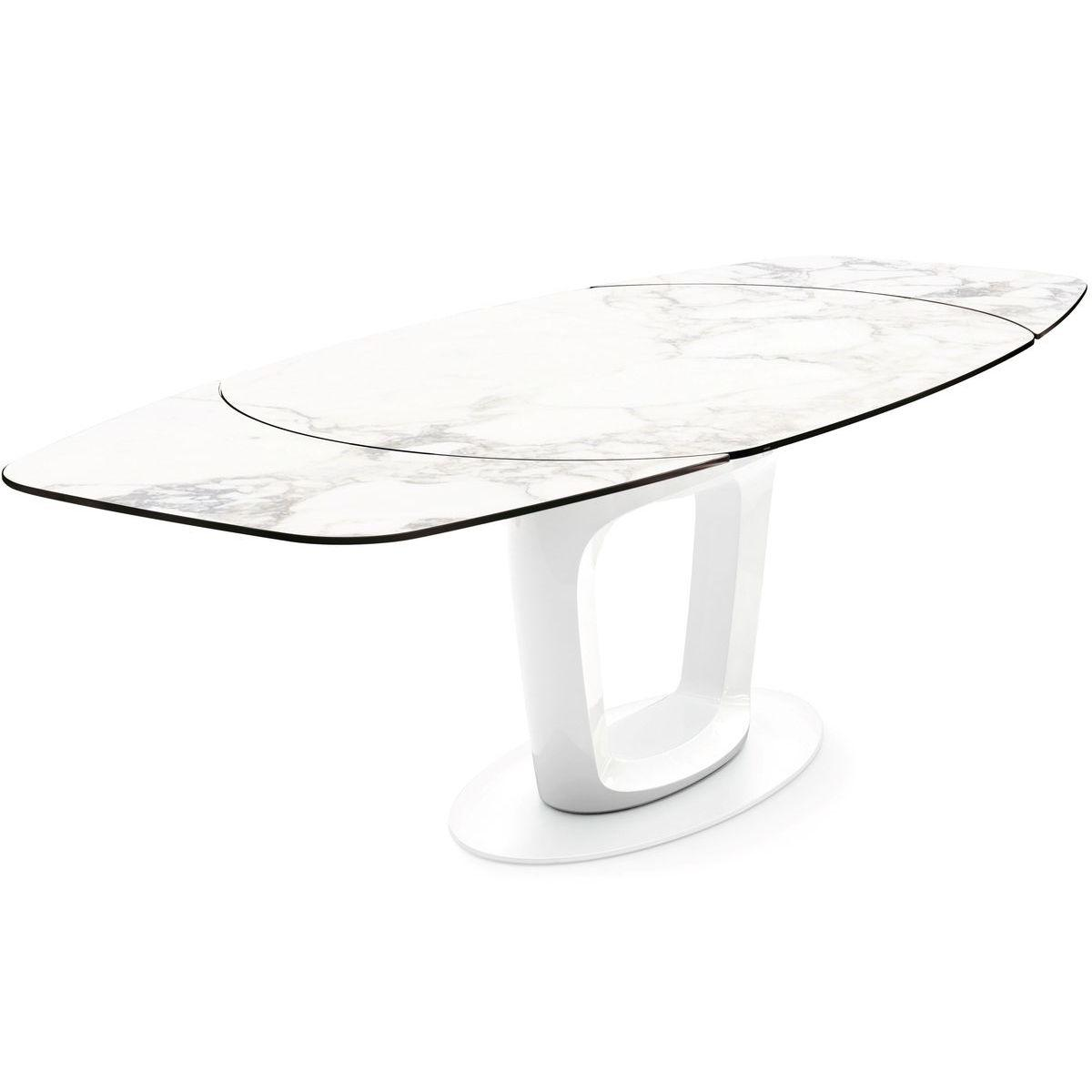 Table à rallonge ORBITAL Calligaris marbre blanc