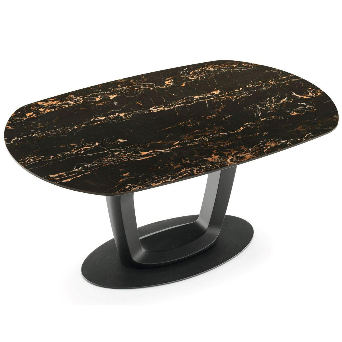 Table à rallonge ORBITAL Calligaris marbre noir