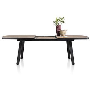 Table à rallonge ovale 110x190/250cm AVALOX Henders & Hazel driftwood-pieds simple