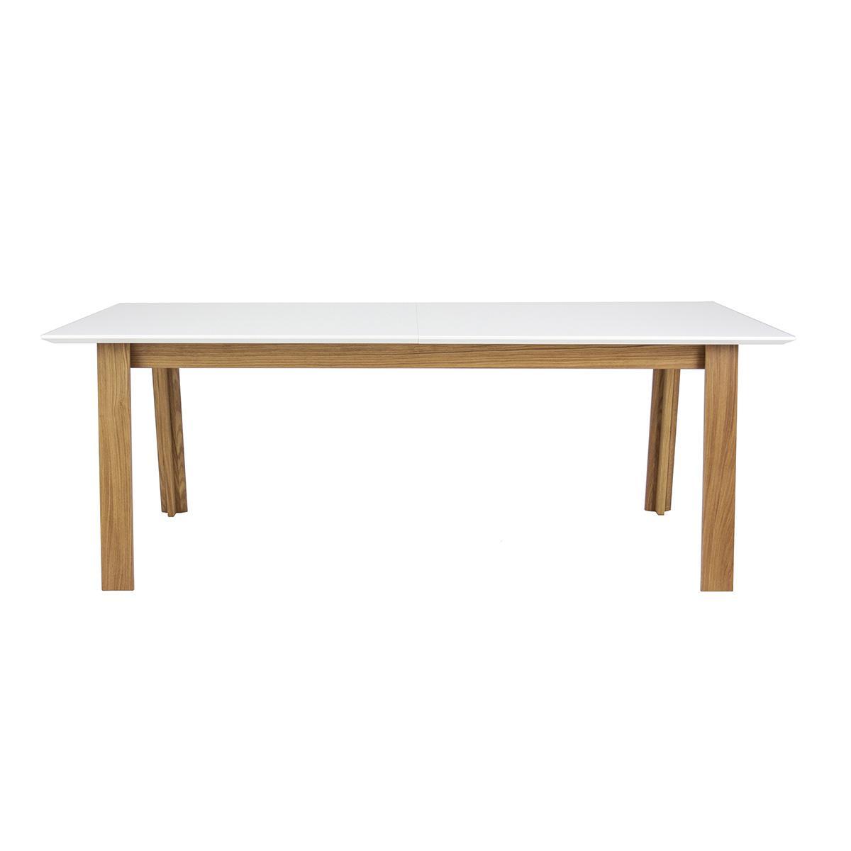 Table à rallonge PROFIL Tenzo blanc et chêne