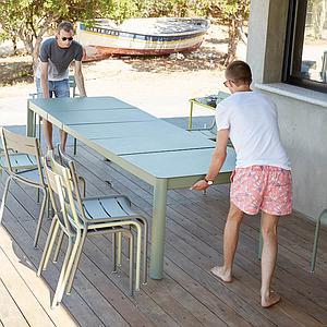 Table à rallonge XL 149/299x100cm RIBAMBELLE Fermob cactus