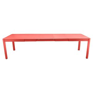 Table à rallonge XL 149/299x100cm RIBAMBELLE Fermob capucine