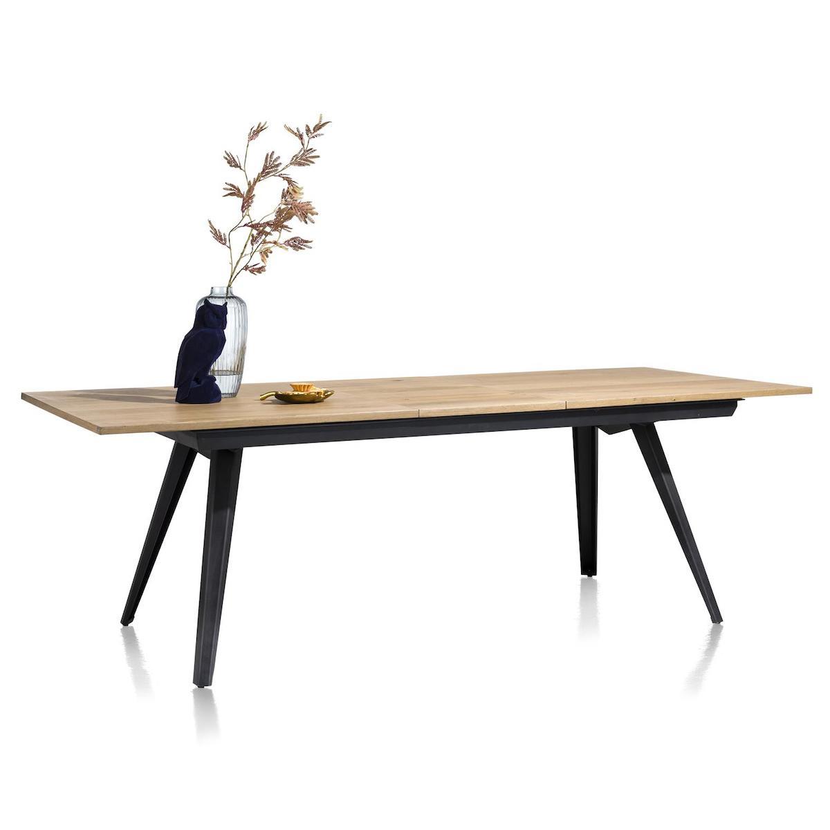 Table à rallonges 100x190(+50)cm CITY Henders & Hazel railway brown