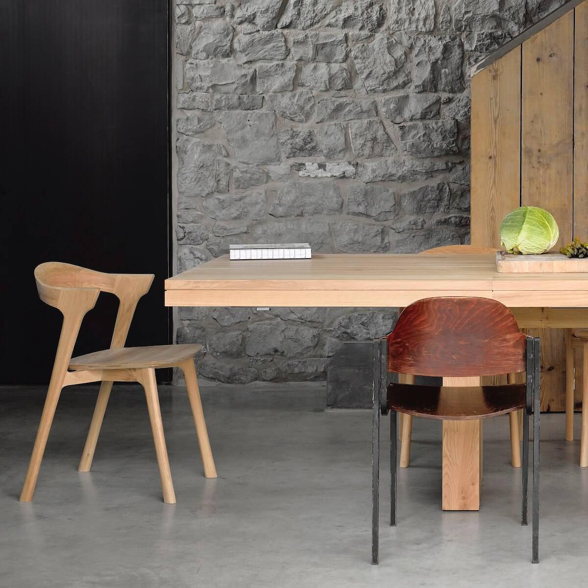 Table à rallonges 100x200/300cm DOUBLE Ethnicraft chêne