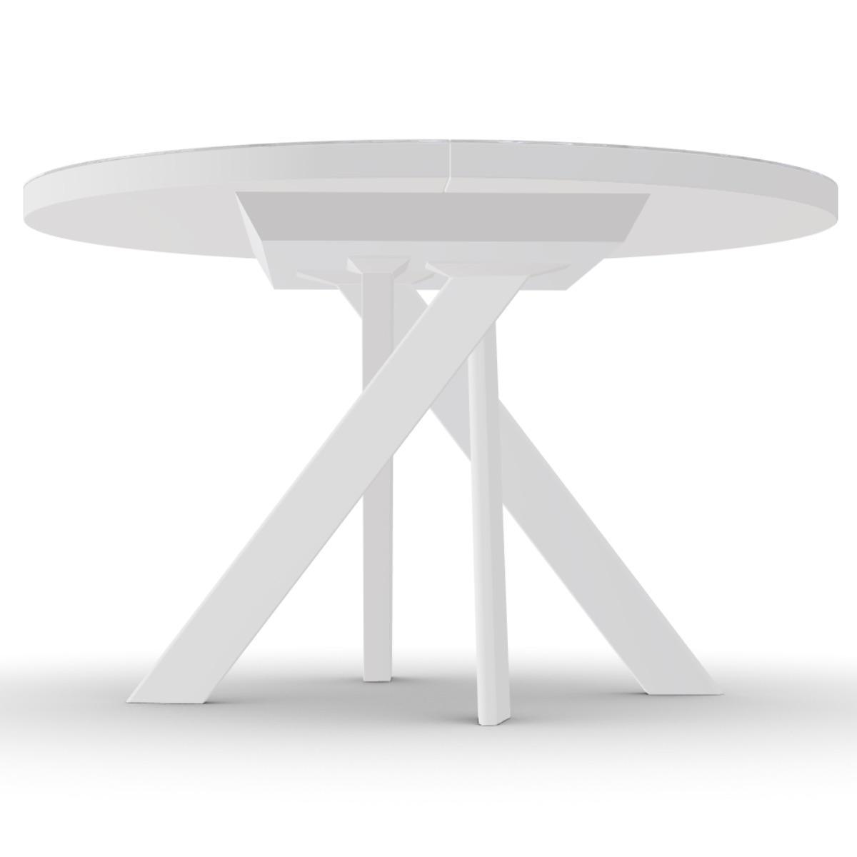 Table à Rallonges 130 190cm Tivoli Calligaris Céramique Marbre Blanc