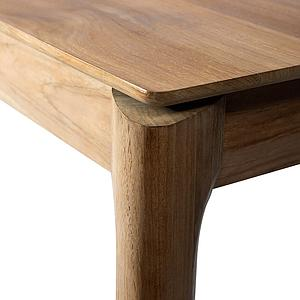 Table à rallonges 90x140/220cm BOX Ethnicraft teck