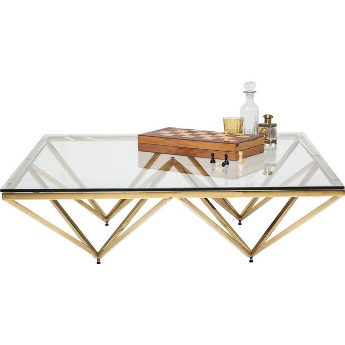 Abitare Living Lu Table Basse 105x105cm Network Kare Design Doree