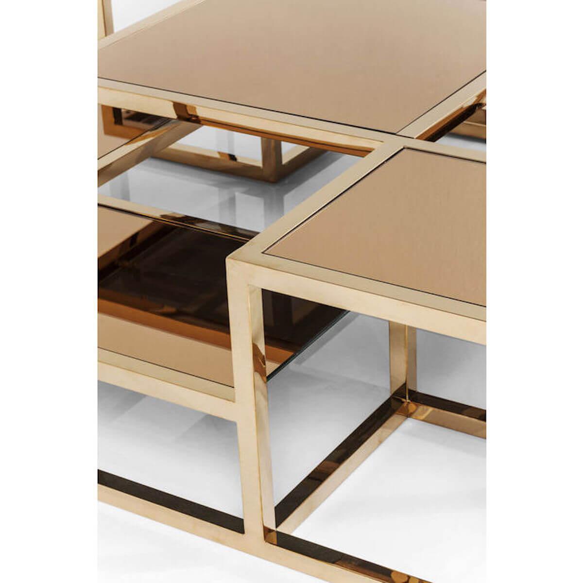 Table basse 120x120cm STEPS Kare Design or