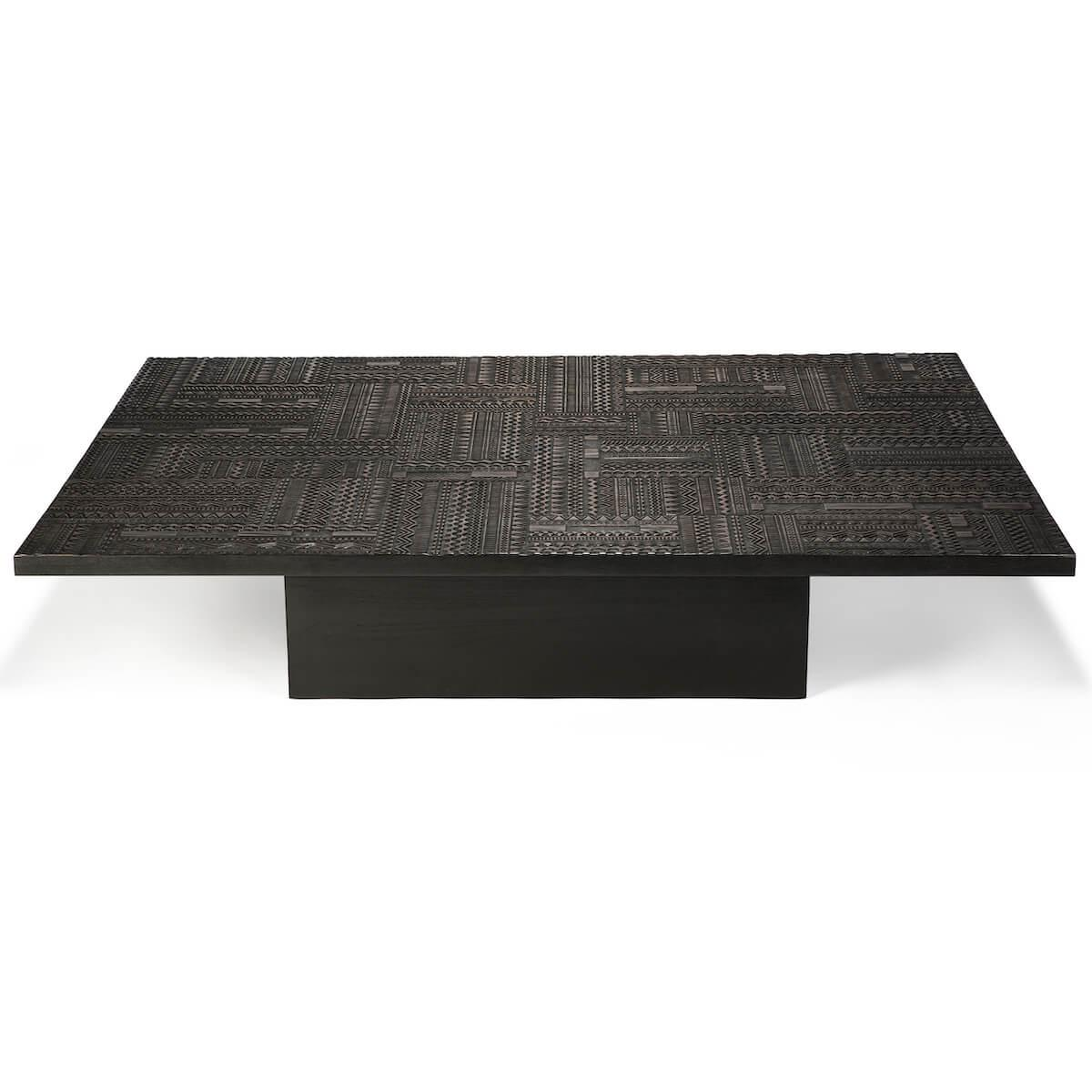 Table basse 120x170cm TABWA BLOK Ethnicraft teck noir