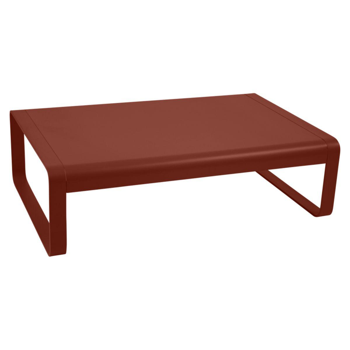 Table basse BELLEVIE Fermob rouge ocre