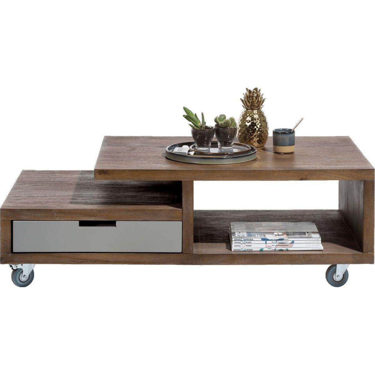 Table basse BOX Henders & Hazel 60x120cm Tramwood Walnut gris