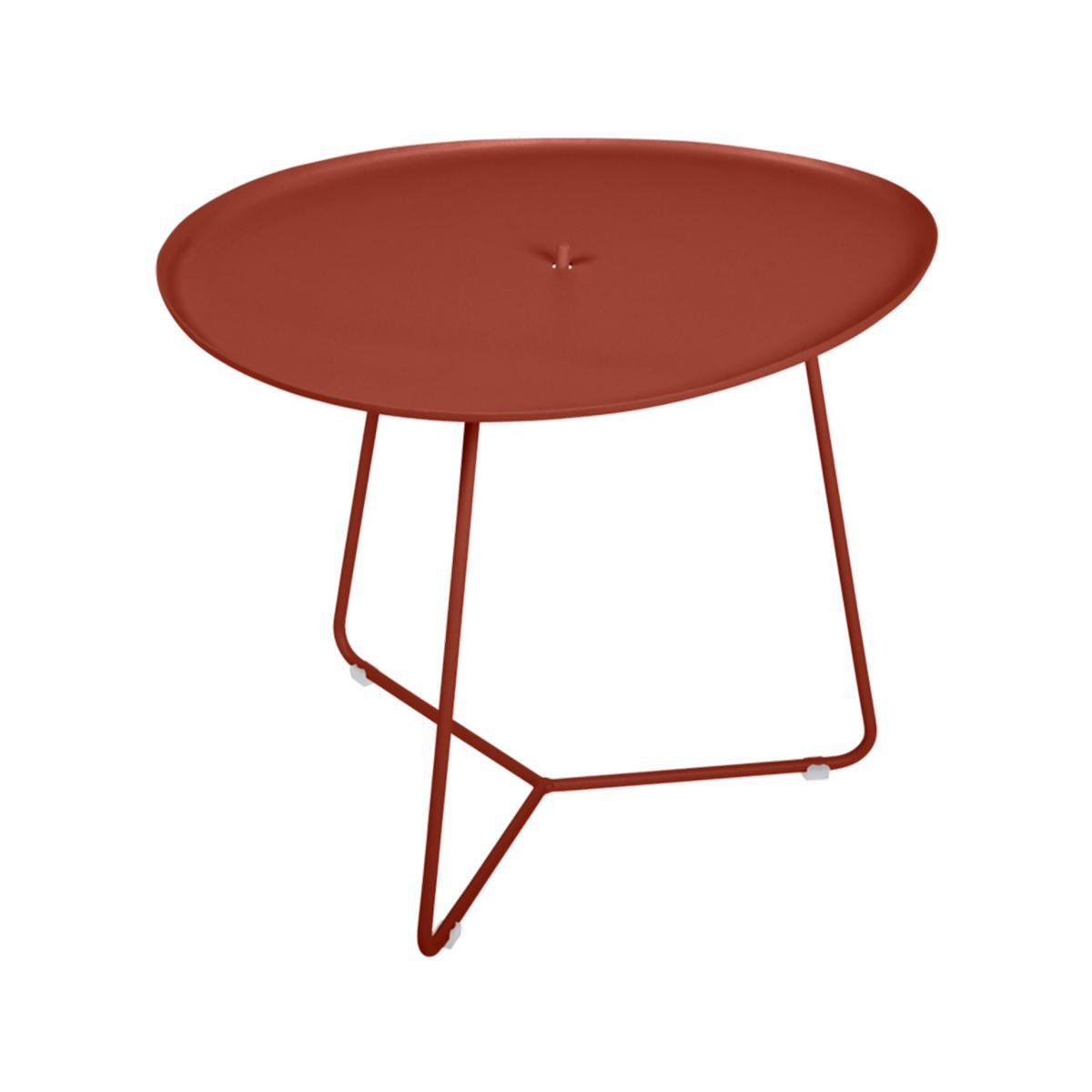 Table basse COCOTTE Fermob rouge ocre