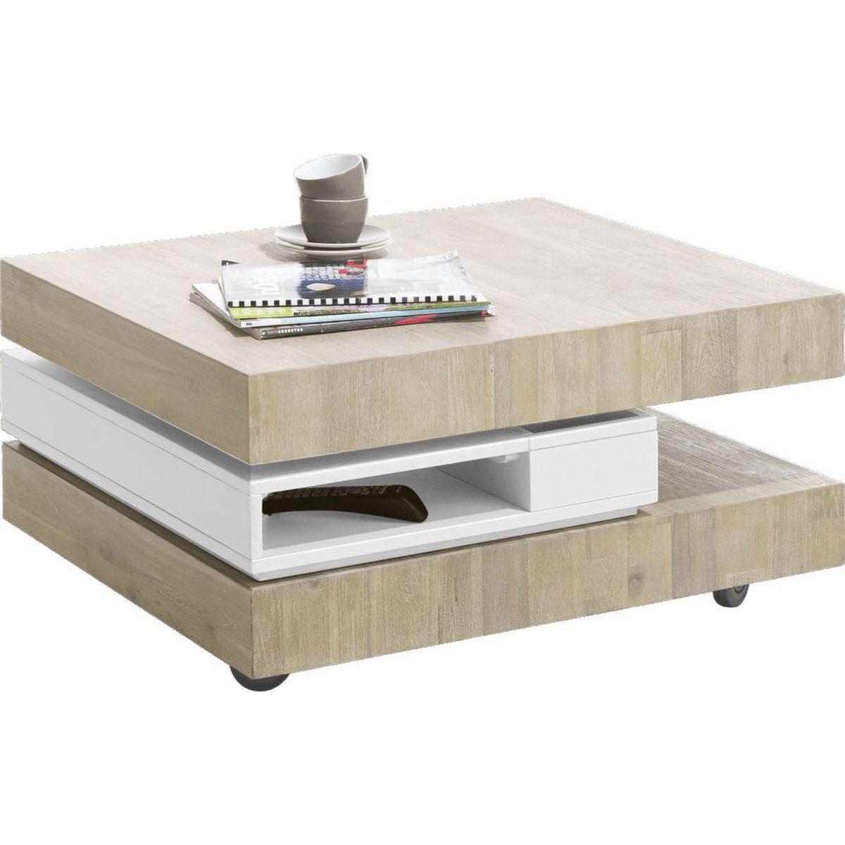 Table basse MULTIPLUS HetH tibet grey-blanc