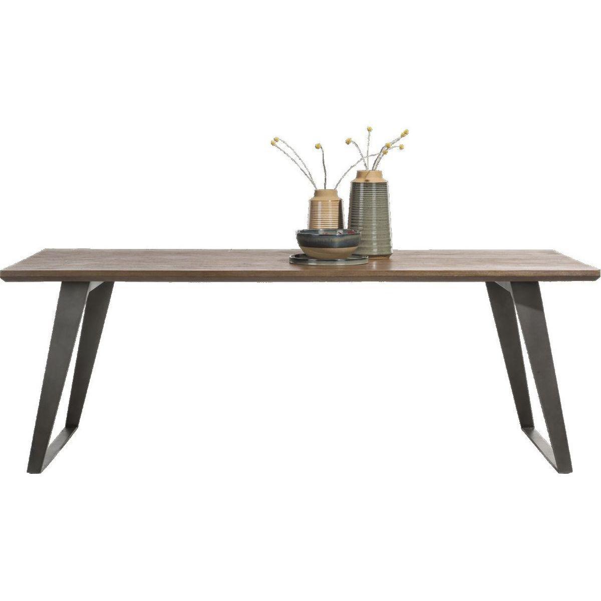 Table BOX Henders & Hazel 100x220cm Tramwood Walnut