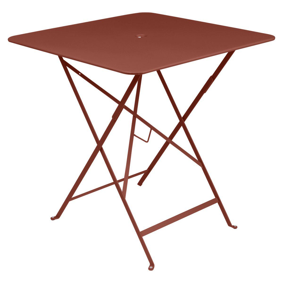 Table carrée BISTRO Fermob 71x71 rouge ocre