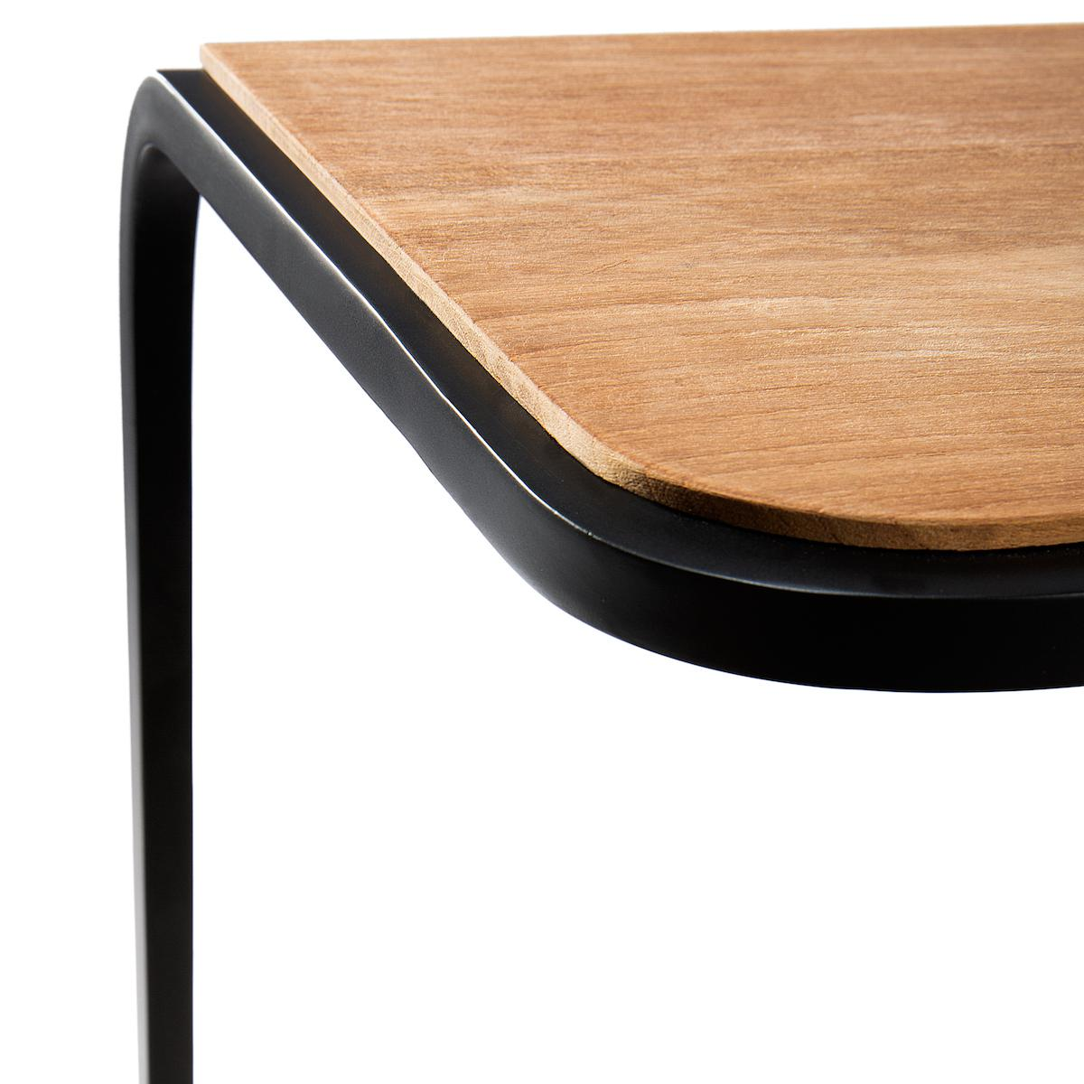 Table d'appoint 40x40cm N701 Ethnicraft teck