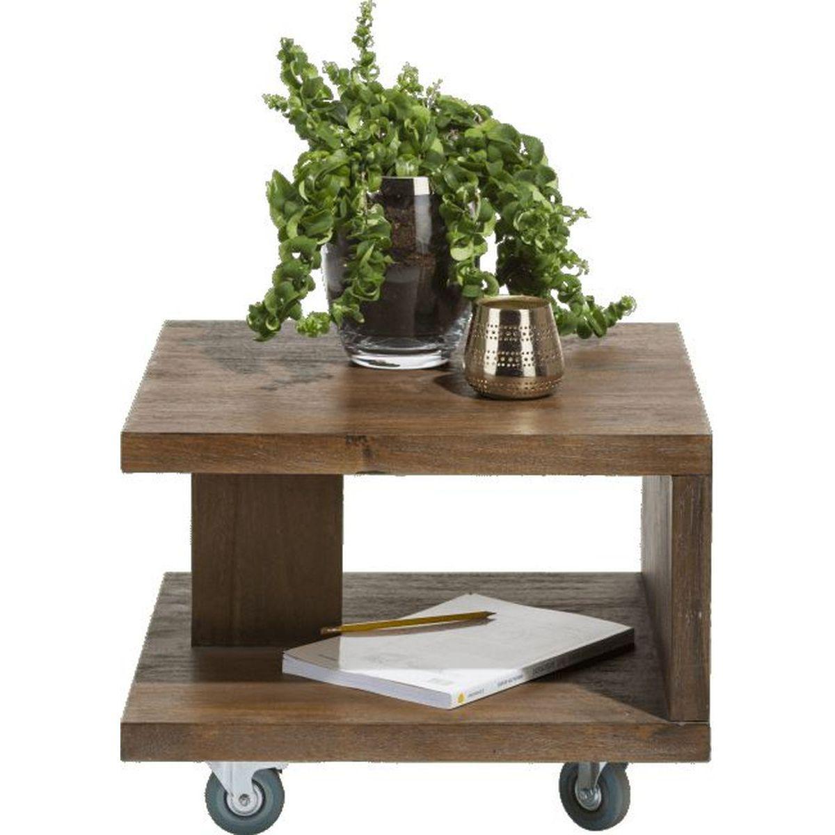 Table d'appoint BOX Henders & Hazel 55x55cm Tramwood Walnut