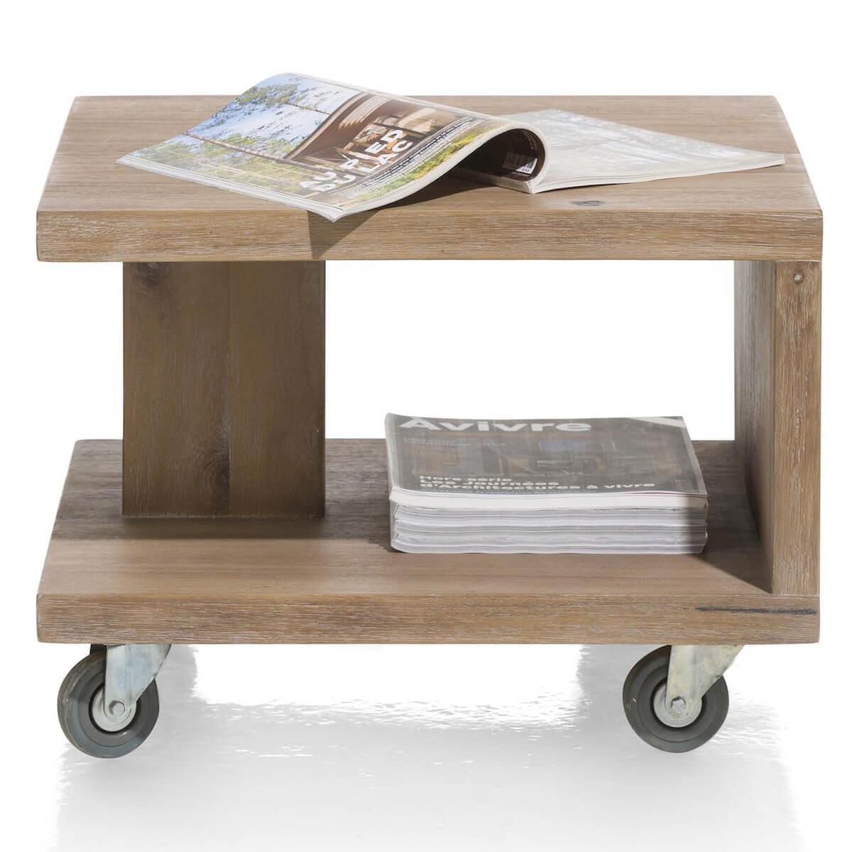 Table d'appoint BOX Henders & Hazel Tramwood vintage grey