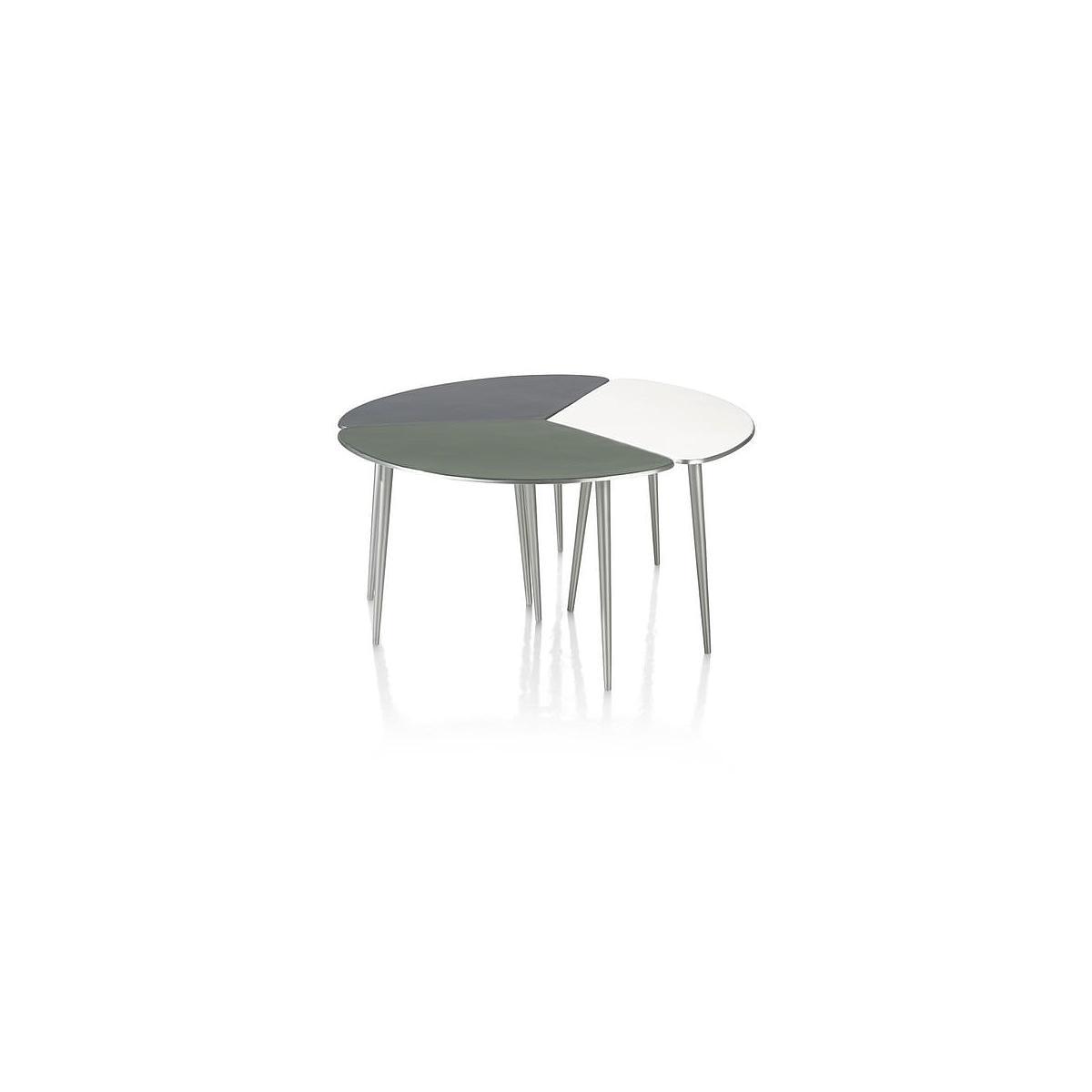 Table d'appoint DUBAI Coco Maison Set de 3 alluminium